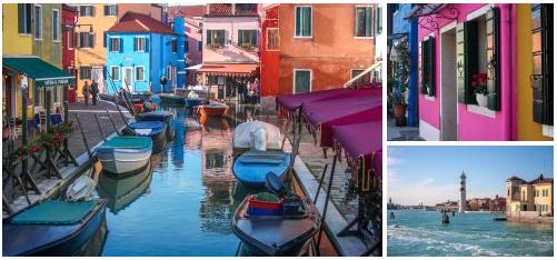Venice Italy city break italian travel diary holiday vacation burano island colourful