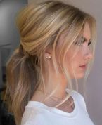 Bridal Wedding Hair Boho Glam Ponytail