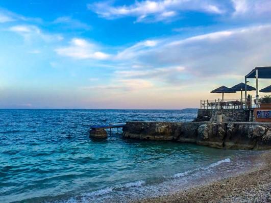 Corfu Greece Mediterranean Ocean Beach Island Nissaki Restaurant Food