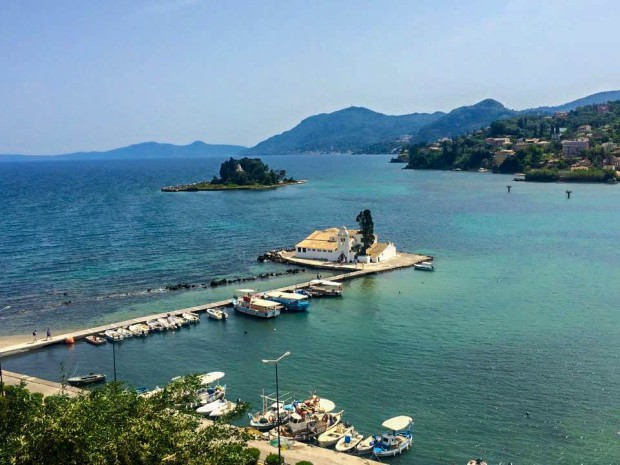 Corfu Greece Mediterranean Ocean Beach Island