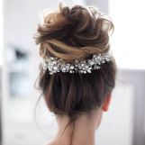 Bridal Wedding Hair Boho Glam Bun Updo