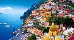 Italy Amalfi Sorrento Positano Coast Ocean