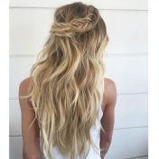 Bridal Wedding Hair Boho Long Flowing Crown