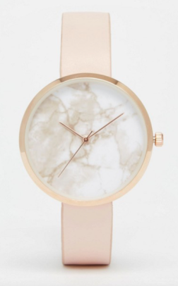 marble dial rose gold peach nude