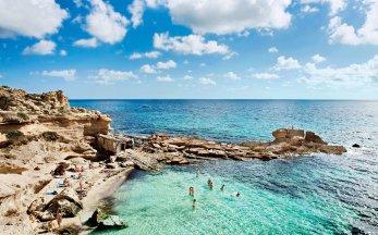 Spain Ibiza Mediterranean Sea Ocean Beach