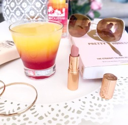 Drink Cocktail Flatlay Book Lipstick Makeup