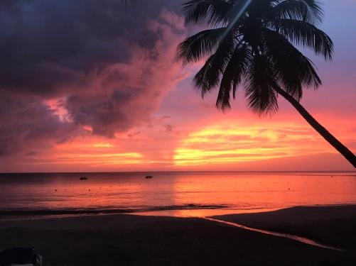 St Lucia Caribbean Sunset Tropical Travel Diary