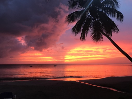 St Lucia Caribbean Sunset Tropical Travel Diary