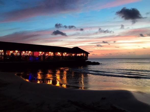 St James Club St Lucia Caribbean Sunset Ocean View Restaurant