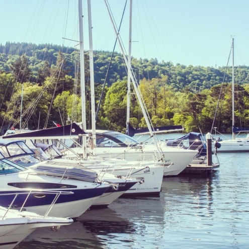 Boats on Lake Windermere Lake District Sailing