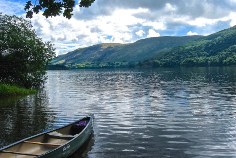 Canoe Activity on Ullswater Lake Lake District