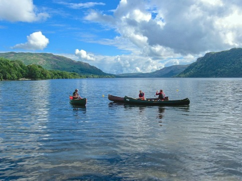 Canoeing Activity on Ullswater Lake Lake District