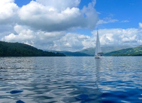 Sail Boat Activity on Lake Windermere Lake District